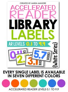 EDITABLE library labels for Accelerated Reader books