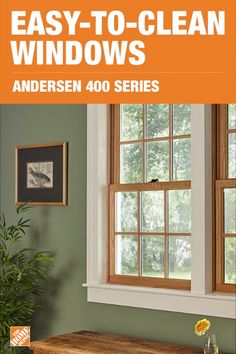 Give your home a beautiful, modern update by upgrading to the Andersen 400 Series Woodwright Double Hung window. These innovative windows are easy to open and swiftly clean using just one hand. Designed with a classic style, the 400 Series comes in a variety of finishes to elegantly match your cabinetry and decor. Click to explore more products.