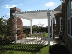 Love the Double Beam Freestanding Pergola with the large outdoor Friday place. Ideal for the cool spring & fall nights!