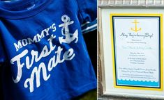 Adorable Nautical themed baby shower. I big pink fluffy heart Nautical themes!