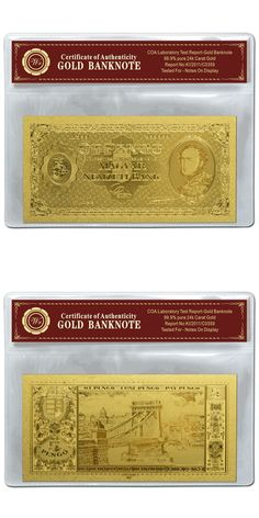 New Arrivals Gold Banknote 20 Dollar Colorful Gold Plated Paper ...