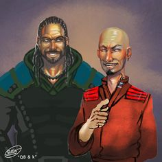 Quick ben and Kalam from the Malazan Book of the Fallen by Steven Erikson, Art by Shadaan