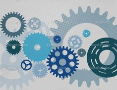 Machine Gear Wheel Cogwheel pattern. Vector illustration. - Векторная картинка: 24944933