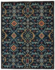 Distressed Rug in Blue design by BD Fine