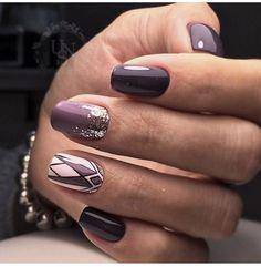 9 Snowflake Nail Art Designs : Winter Nail Design Ideas Do It Yourself Winter Nail Designs, Nail Art Designs, Tribal Designs, Cute Acrylic Nails, Cute Nails, Snowflake Nail Art, Gelish Nails, Purple Nails, Gorgeous Nails