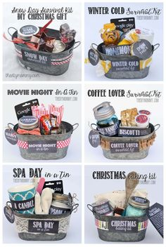 Gifts for Christmas - Diy geschenke - diy 10 Secret Santa Gifts, Secret Sister Gifts, Diy Cadeau Noel, Cadeau Surprise, Navidad Diy, Creative Gifts, Creative Gift Baskets, Craft Gifts, Holiday Fun