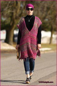 All Year Round Poncho -free crochet pattern-