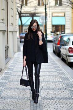 Leggings+kombinieren:+Rockig+und+sexy+ganz+in+Schwarz