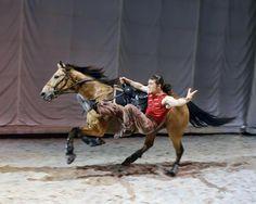 trick riding at Cavalia