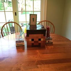 Mine craft table decorations