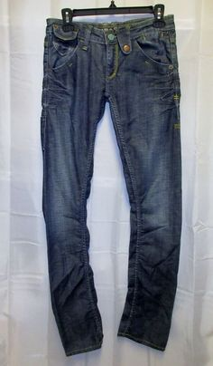 """MBARK M Bark Jeans 27 29x33"""" Ruched Whiskered Seams Knife pocket IWB Concealed #Mbark #ruched"""