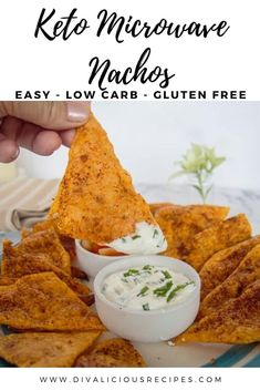 Quick cheesy and crispy nacho chips made in 2 minutes in the microwave are an easy keto and low carb recipe. Quick cheesy and crispy nacho chips made in 2 minutes in the microwave are an easy keto and low carb recipe. Low Carb Appetizers, Appetizer Recipes, Snack Recipes, Appetizer Ideas, Ketogenic Recipes, Low Carb Recipes, Free Recipes, Healthy Recipes, Low Carb Food