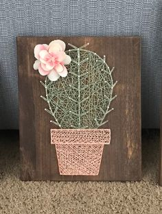 Solo cactus string art potted cactus rustic cactus nursery decor baby room - The world's most private search engine String Art Templates, String Art Patterns, String Art Diy, Cactus Craft, Cactus Decor, Cactus Images, Nursery Wall Decals, Nursery Decor, Diy Holiday Gifts