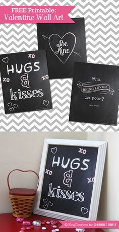 Free Valentine Wall Art Printables - Somewhat Simple