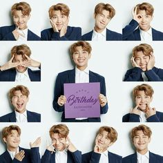 BTS has dropped a ton of never-before-seen images for leader Rap Monster's birthday.It's BTS tradition to release behind the scenes photos on… Bts Rap Monster, Bts Blackpink, Bts Bangtan Boy, Taehyung, Kim Namjoon, Jung Hoseok, Happy Birthday Rap, J Hope Birthday, Special Birthday