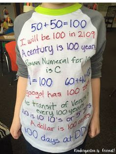 Check out these 10 100th day of school tshirt ideas!  These are great ways to dress up for the 100th day!  Look for great 100th day ideas here!