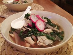 I've been fighting a bit of a cold this week but luckily my boyfriend made me this delicious Miso Mushroom Chicken and Rice Soup by @jamieoliver from #everydaysuperfood to help get me back on my feet.  #sick #cold #soup #jamieoliver #chicken #mushroom #kale #miso #rice #radish #food #foodie #montreal #mtl #514 #quebec #healthy #healthycooking by goodfoodgoodeats