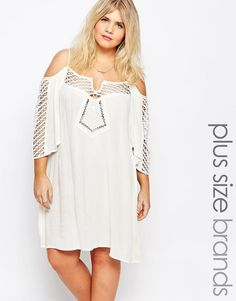 Image 1 ofAlice & You Off The Shoulder Lace Detail Dress