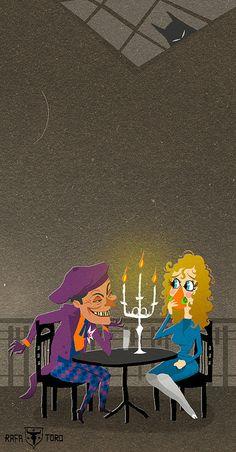 The Joker from Tim Burton's Batman illustrated by Rafa Toro, Scout loves this movie.