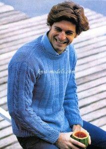 Вязаный пуловер мужской