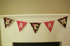 Dream BannerButterfly and Polka Dot Fabric in by AnnaTereDesigns, $43.00