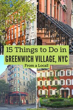 Things to Do in Greenwich Village NYC | Planning what to do in Greenwich Village NYC? This guide is written by a local with tips about favorite restaurants, shops, where to have brunch, eat NYC pizza, see neighborhood favorites like the Friends or Carrie Bradshaw Apartments, as well as what to do at night in the Village. #travel #NYC Best Travel Websites, Stuff To Do, Things To Do, Traveling Teacher, Nyc Hotels, Us Travel Destinations, Washington Square Park, New York City Travel, Greenwich Village