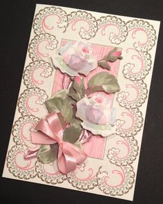 Elegant Floral Valentine's Day Card with Anna Griffin Papers