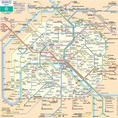 Metro kort Paris