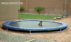 DIY underground trampoline - cheap!  Good instructions