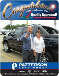Congratulations to Grandos Garcia on her new purchase! - From Royce Seay at Patterson Auto Center