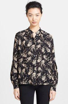 Michael Kors Elderflower Print Silk Shirt available at #Nordstrom