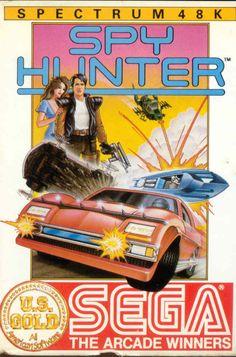 Spy Hunter - ZX Spectrum Front Cover (1985) #retro #games #8bit