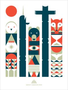 Totem Pole design for Agency Dominion @Doublnaut
