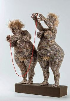 Yulia Ustinova is a Russian artist who uses the art of crocheting to replicate famous artworks or to arrange new shapes totally made by her