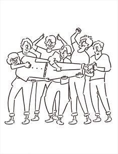 V6「LIVE TOUR 2017 The ONES」初回限定盤Bジャケット - V6横アリライブ映像作品、ジャケットはグッズに続き長場雄が担当 の画像ギャラリー 2枚目(全3枚) Grafic Art, Black And White Doodle, Artist Problems, Outline Art, Minimalist Drawing, Bizarre Art, Instagram Logo, Line Illustration, Face Art