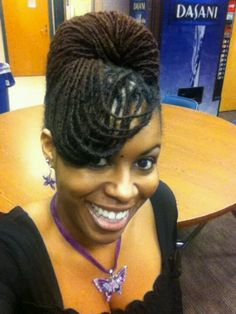 Lovely formal look - better for thinner dreads or sister locs