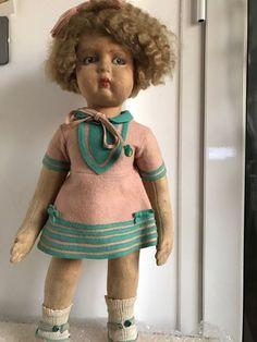 Bambola in panno lenci antica vintage doll