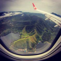 Sentani Barat dari atas pesawat