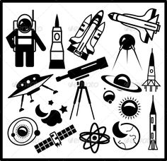 Set of Black Space Icons #GraphicRiver Vector EPS10 illustration. Fully editable vector. All design elements included in EPS file (use of Adobe Illustrator or other vector graphics editors is preferred). Created: 7February13 GraphicsFilesIncluded: JPGImage #VectorEPS Layered: No MinimumAdobeCSVersion: CS Tags: alien #astronaut #astronomy #black #collection #comet #cosmos #earth #icon #illustration #meteor #moon #orbit #planet #radar #rocket #satellite #saturn #set #shuttle #space #spacecraft…