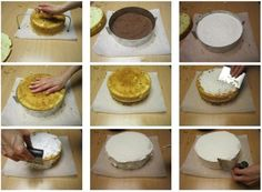 Preparare una torta per la decorazione con la pasta di zucchero