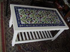 İznik Çandar Çini | Products Furniture Decor, Painted Furniture, Spanish Style Decor, Islamic Tiles, Glazed Tiles, Turkish Art, Tile Art, Ceramic Art, Boho Decor