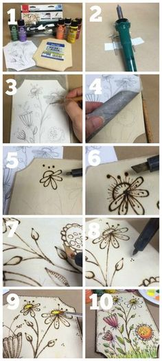 DIY Wood Burning: How To Tips & Project Patterns #plaidcrafts