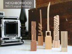 City inspired sculptures made entirely from scrap wood. It's a woodworker's way of making something out of nothing.