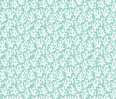 Mint Coral abstract ocean series fabric by littlesmilemakers on Spoonflower - custom fabric