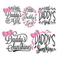 Little Daddy's Sunshine Girl Cuttable Design Cut File. Vector, Clipart, Digital Scrapbooking Download, Available in JPEG, PDF, EPS, DXF and SVG. Works with Cricut, Design Space, Sure Cuts A Lot, Make the Cut!, Inkscape, CorelDraw, Adobe Illustrator, Silhouette Cameo, Brother ScanNCut and other compatible software.
