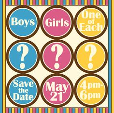 Nothings and Notions from my Noodle: Twin Gender Reveal Party!