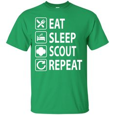 Eat Sleep Scout Repeat Girl Scouts T Shirts – Gift for Crush Scout Mom, Daisy Girl Scouts, Cub Scouts, Girl Scout Leader, Girl Scout Troop, Mother Daughter Crafts, Girl Scout Shirts, Girl Scout Juniors, Silhouette Curio