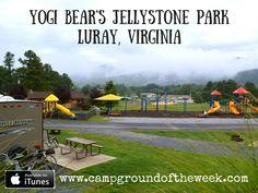 Campground Yogi Bear's Jellystone Park in Luray, Virginia - RV Family Travel Atlas Best Places To Camp, Camping Places, Camping World, Yogi Bear Campground, Luray Virginia, Shenandoah Virginia, Shenandoah River, Virginia Camping, New York State Parks