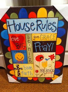 Glory Haus..House Rules canvas