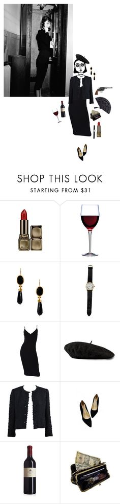 """""""It's not personal, Sonny. It's strictly business"""" by midnightdancing ❤ liked on Polyvore featuring Guerlain, Luigi Bormioli, Revolver, Ottoman Hands, Cartier, Michael Kors, Gucci, Chanel, AmeriLeather and contest"""